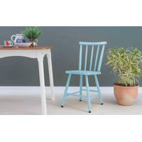Cadeira Torneada Mimo Laqueada Azul Bebê 44X41,5X81Cm