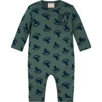 Macacão Bebê Masculino Verde