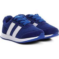 Tênis Bebê Via Vip New Jogging Tiras Laterais - Masculino-Azul Royal+Branco