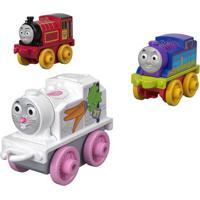 Mini Veículos - Thomas E Seus Amigos - Minis - Victor, Rainbow E Thomas - Fisher-Price