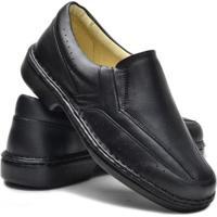 Sapato Cla-Clê Casual Conforto Masculino - Masculino-Preto
