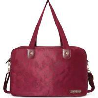 Bolsa Para Viagem Damasco- Bordã´- 26X40X17Cm- Jajacki Design