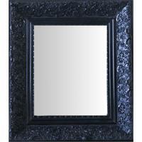 Espelho Moldura Rococó Fundo 16418 Preto Art Shop
