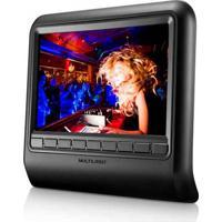 Dvd Player Automotivo 9 Pol. Para Descanso De Cabeça Encaixe Com 2 Entradas Av In 12V Pal E Ntsc Multilaser - Au705 - Padrão