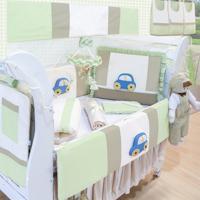 Kit Berço Padroeira Baby Fusca Verde