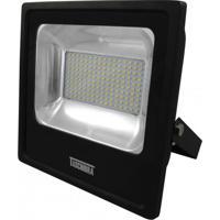 Refletor Led 100W Luz Branca 6500K Taschibra Preto