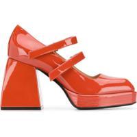 Nodaleto Sapato Salto Bloco - Vermelho
