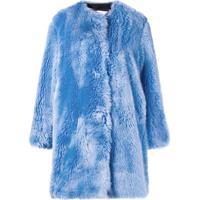 Msgm Casaco Oversized - Azul