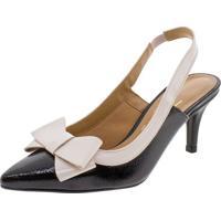 Sapato Feminino Chanel Vizzano - 1185176 Preto/Bege