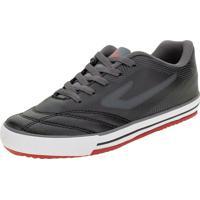 Chuteira Infantil Frontier Ix Futsal Topper - 4203663261 Preto/Cinza 35