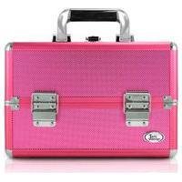 Maleta De Maquiagem Profissional Vazia Boca Rosa Média Reforçada Pink
