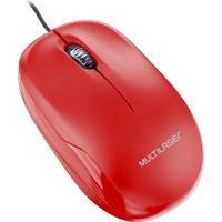 Mouse Box Óptico 1200Dpi Usb Vermelho Mo292