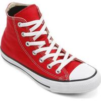 Tênis Cano Alto Converse Chuck Taylor All Star Hi Masculino - Masculino-Vermelho+Branco