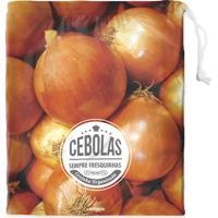 Saco Para Conserva Cebola- Marrom Claro & Branco- 35Boxmania