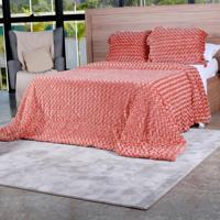 Cobertor Slim Peles Casal Com Porta Travesseiro Batom - Tessi