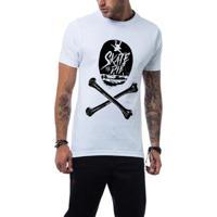Camiseta Ukkan Skate Or Die Masculina - Masculino-Branco