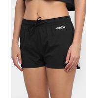 Short Adidas D2M 3S Feminino - Feminino-Preto+Branco