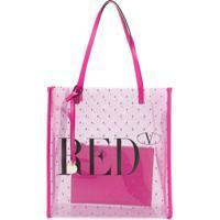 Redvalentino Bolsa Tote Transparente Red(V) - Rosa