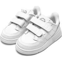 Tênis Couro Adidas Originals Menino Supercourt Cf I Branco