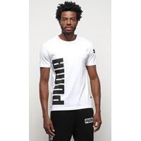 Camiseta Puma Big Logo Masculina - Masculino-Branco