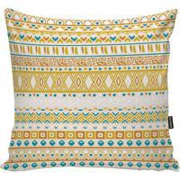 Capa Para Almofada Indians- Amarela & Laranja- 45X45Stm Home