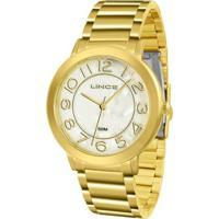 Relógio Lince Feminino - Lrgh046L B2Kx - Feminino-Dourado