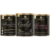 Collagen Skin Natural 300G + Crealift 300G + 100% Glutamine - Unissex