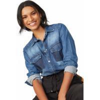 Camisa Jeans Detalhe Bolso