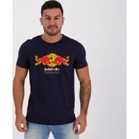 Camiseta Puma Red Bull Racing Double Tee Marinho