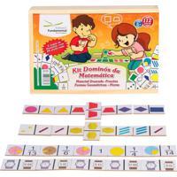 Kit Dominós Da Matemática Cx. C/ 4 Jogos - Fundamental
