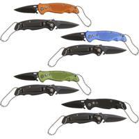 Canivete Flip Lâmina De Aço Inox E Trava Segurança 12 Unidades - Azteq