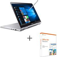 "Notebook Samsung, Core I7, 8Gb, 256Gb, 13,3"", Prata, S-Pen + Microsoft Office 365 Personal Com 01 Ano De Assinatura"