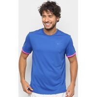 Camiseta Nike Dry Top Colorblock Masculina - Masculino-Azul