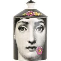 Fornasetti Vela Com Vaso 'Flora Requiem' - Preto