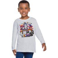 Camiseta Infantil Menino Cinza