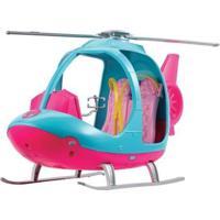 Helicóptero De Brinquedo Barbie Travel Explorar E Descobrir - Feminino-Rosa+Azul