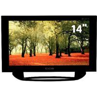 "Tv Led 14"" Cce Ln14G Preta - Conversor Digital - Widescreen - Usb - Áudio Stereo"