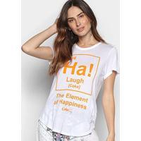 Camiseta Coca-Cola Element Of Hapiness Feminina - Feminino-Branco