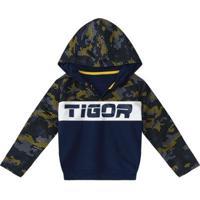 Blusa Infantil Tigor T. Tigre Feminina - Masculino-Azul