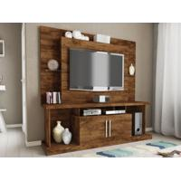 "Home Theater Para Tv Ate 52"" Duo Com Portas Jatoba - Caemmun"