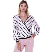 Blusa Studio 21 Fashion Cetim - Feminino-Off White