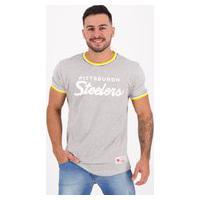 Camiseta Mitchell Ness Nfl Pittsburgh Steelers Cinza Mescla
