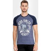Camiseta Ecko Estampada Manga Curta Raglan Masculina - Masculino