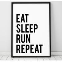 Poster Emoldurado - Eat Run