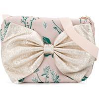 Hucklebones London Bolsa Tiracolo Com Estampa Floral E Aplicação De Laço - Rosa
