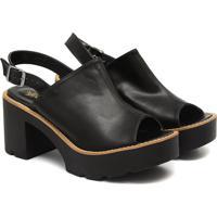 Sandalia Open Boot Preta