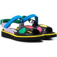 Stella Mccartney Kids Sandália Com Velcro - Azul