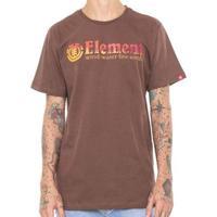 Camiseta Element Glimpe Horizontal Masculina - Masculino-Marrom