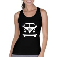 Camiseta Regata Criativa Urbana Carro Antigo Clássico Kombi - Feminino-Preto