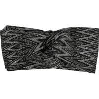 Missoni Headband Bordado - Preto